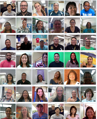 flip grid collage of teachers