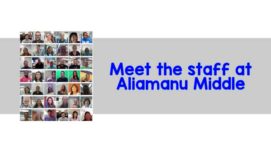 meet the staff at aliamanu middle