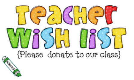classroom wish list banner