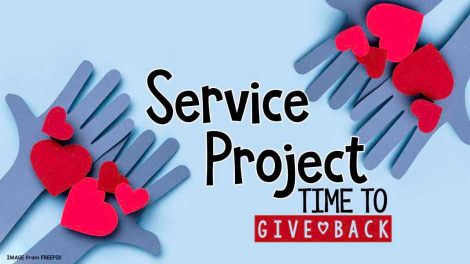 service project - time to give back