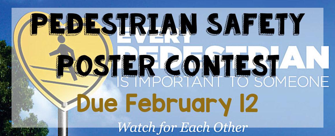 pedestrian safety poster contest banner