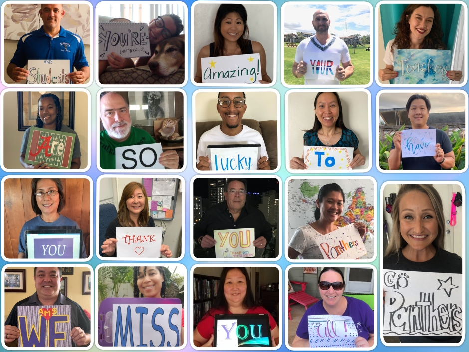 collage message from teachers to students version 2