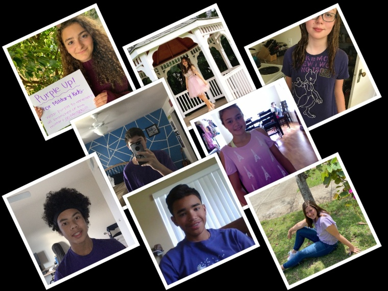 AMS Student Leaders Purple Up collage