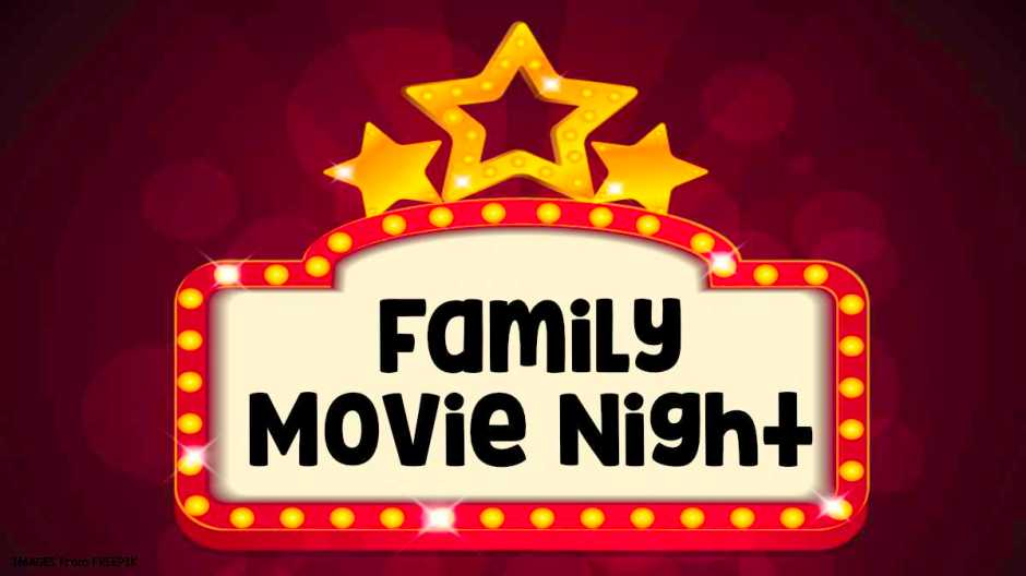 family movie night banner